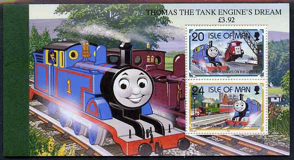 Booklet - Isle of Man 1995 50th Anniversary of Thomas the Tank Engine �3.92 booklet complete and very fine, SG SB40