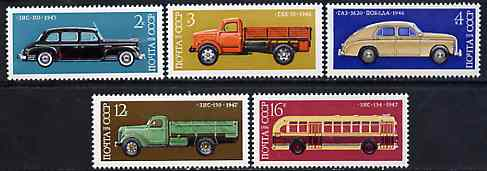 Russia 1976 Soviet Motor Industry 4th Issue set of 5 unmounted mint, SG 4512-16, Mi 4473-77*
