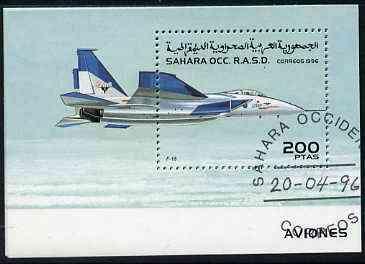 Sahara Republic 1996 Aircraft perf m/sheet (F-15 Jet) cto used