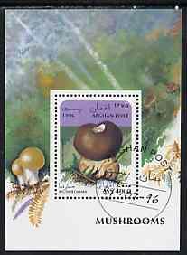 Afghanistan 1996 Mushrooms perf m/sheet (4000a) cto used