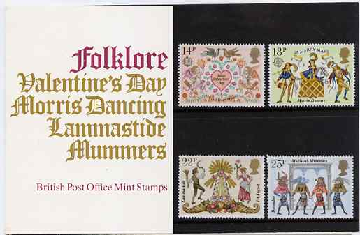 Great Britain 1981 Folklore set of 4 in official presentation pack SG 1143-46