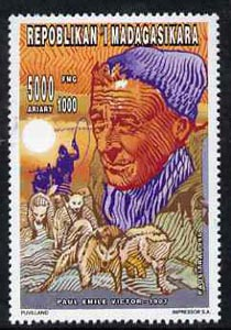 Madagascar 1996 Paul Emile Victor (Polar Explorer) 5000 + 1000F from Personalities set unmounted mint