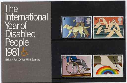 Great Britain 1981 International Year of the Disabled set of 4 in official presentation pack SG 1147-50