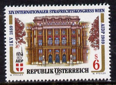 Austria 1989 Congress of Criminal Law 6s unmounted mint, SG  2209