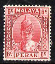 Malaya - Perak 1938-41 Sultan 6c scarlet unmounted mint, SG 109