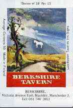 Match Box Labels - Berkshire (The White Horse) (No.13 from a series of 18 Pub signs) very fine unused condition (Lanchester Taverns)