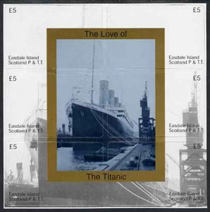 Telephone Card - Easdale set of 6 \A35 (collector's) cards forming a composite picture of the Titanic