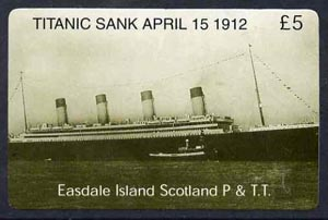 Telephone Card - Easdale Titanic #01 \A35 (collector's) card (green & white from a limited edition of 1200)