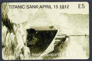 Telephone Card - Easdale Titanic #04 \A35 (collector's) card (green & white from a limited edition of 1200)