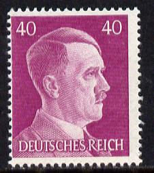 Germany 1941-42 Adolf Hitler 40pf deep magenta unmounted mint SG785, stamps on   , stamps on dictators.