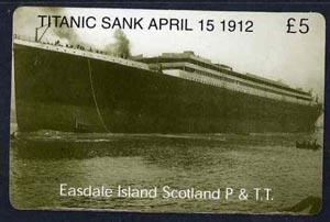 Telephone Card - Easdale Titanic #05 \A35 (collector's) card (green & white from a limited edition of 1200)