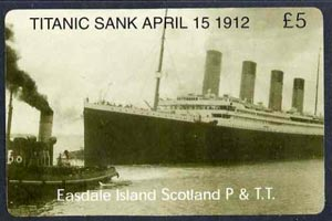Telephone Card - Easdale Titanic #06 \A35 (collector's) card (green & white from a limited edition of 1200)