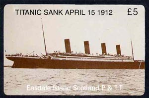 Telephone Card - Easdale Titanic #07 \A35 (collector's) card (brown & white from a limited edition of 1200)