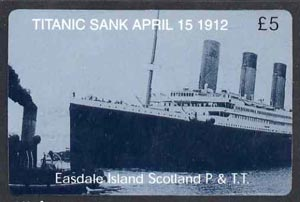 Telephone Card - Easdale Titanic #11 \A35 (collector's) card (blue & white from a limited edition of 1200)