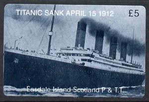 Telephone Card - Easdale Titanic #12 \A35 (collector's) card (blue & white from a limited edition of 1200)