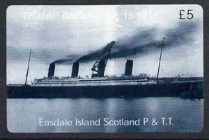 Telephone Card - Easdale Titanic #13 \A35 (collector's) card (blue & white from a limited edition of 1200)
