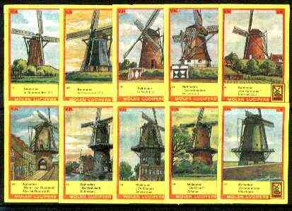 Match Box Labels - Windmills series #05 (nos 41-50) very fine unused condition (Molem Lucifers)