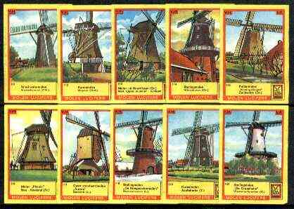 Match Box Labels - Windmills series #12 (nos 111-120) very fine unused condition (Molem Lucifers)