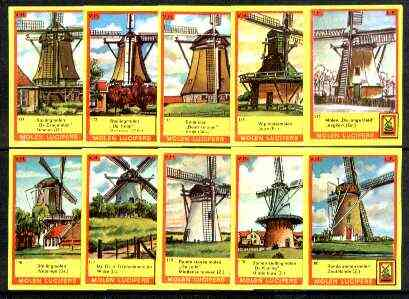 Match Box Labels - Windmills series #18 (nos 171-180) very fine unused condition (Molem Lucifers)