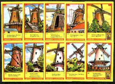 Match Box Labels - Windmills series #24 (nos 231-240) very fine unused condition (Molem Lucifers)