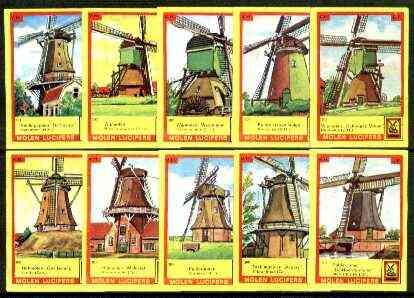 Match Box Labels - Windmills series #31 (nos 301-310) very fine unused condition (Molem Lucifers)