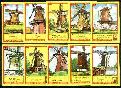 Match Box Labels - Windmills series #32 (nos 311-320) very fine unused condition (Molem Lucifers)