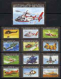 Match Box Labels - complete set of 12 Helicopters of the World (plus outer wrapper) superb unused condition (Essex Match Co)