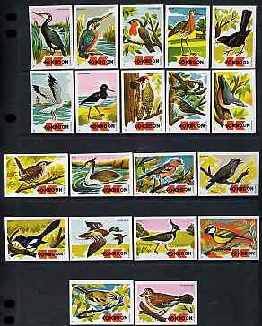Match Box Labels - complete set of 20 Birds (issued 1973) superb unused condition (Dutch Kroon series)