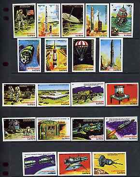 Match Box Labels - complete set of 20 Space Exploration (nos 41-60) superb unused condition (Lucifers series)