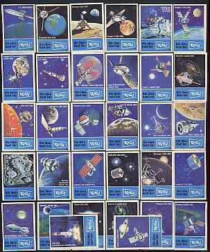 Match Box Labels - complete set of 32 Space Exploration superb unused condition (V\8E G\8E series)