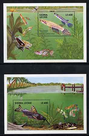 Sierra Leone 1991 Fishes set of 2 m/sheets unmounted mint, SG MS 1621