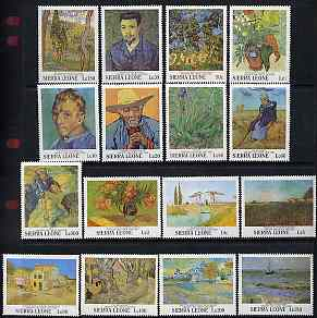 Sierra Leone 1991 Death Centenary of Vincent Van Gogh set of 16 unmounted mint, SG 1622-37
