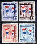 Paraguay 1957 Soldiers & Flags 4 values from 'Chako Heroes' Air set unmounted mint, SG 799-802*