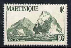 Martinique 1947 Fishing Boats & Rock 60c green unmounted mint, SG 234*