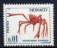 Monaco 1960 Crab (Macrocheira kampferi) 1c from Marine Life set, SG 672 unmounted mint*