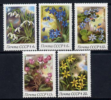 Russia 1983 Spring Flowers set of 5 unmounted mint, SG 5331-35