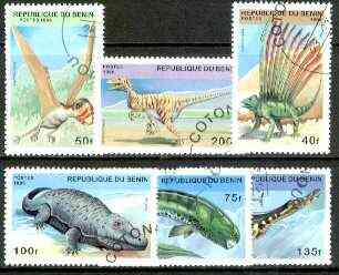 Benin 1996 Prehistoric Animals complete set of 6 fine cto used, Mi 836-41*