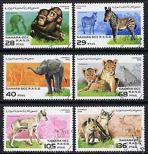 Sahara Republic 1996 Wild Animals complete perf set of 6 very fine cto used