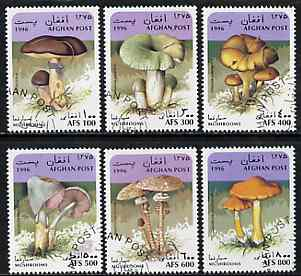 Afghanistan 1996 Mushrooms complete set of 6 very fine cto used*