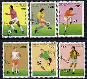 Congo 1996 Football World Cup perf set of 6 cto used*