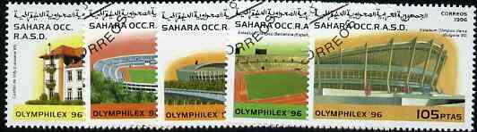 Sahara Republic 1996 Olymphilex 96 Stamp Exhibition (Stadia) complete set of 5 cto used