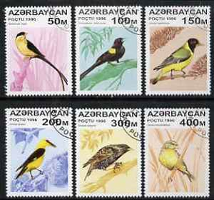 Azerbaijan 1996 Birds perf set of 6 fine cto used, SG 325-30*