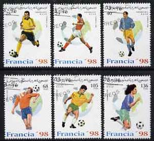 Sahara Republic 1996 France '98 Football World Cup complete perf set of 6 fine cto used*