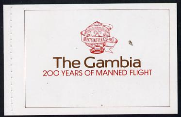 Booklet - Gambia 1983 Manned Flight booklet (SG SB2)