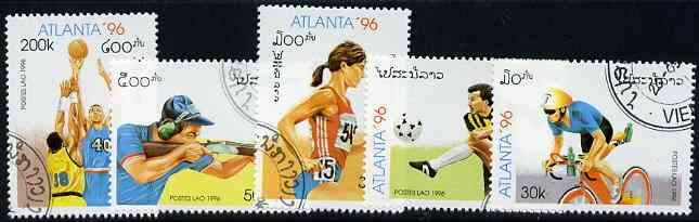 Laos 1996 Atlanta Olympic Games (2nd issue) perf set of 5 fine cto used, SG 1484-88*