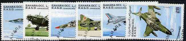 Sahara Republic 1996 Aircraft perf set of 6 very fine cto used*