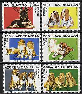 Azerbaijan 1996 Dogs perf set of 6 very fine cto used*