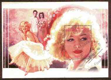 Sahara Republic 1996 Marilyn Monroe m/sheet very fine cto used