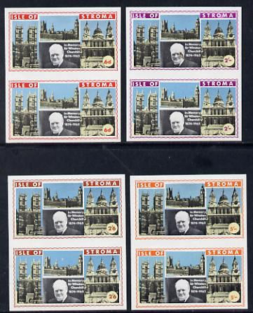 Stroma 1968 Churchill set of 4 in unmounted mint imperf pairs