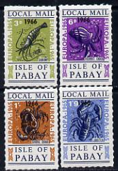 Pabay 1965 Europa (Crustaceans) set of 4 opt
